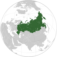A map showing the location of Russia