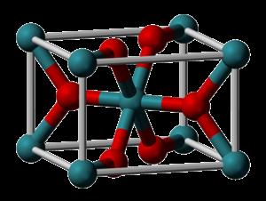 Ruthenium(IV) oxide - Image: Ruthenium(IV) oxide unit cell 3D vd W