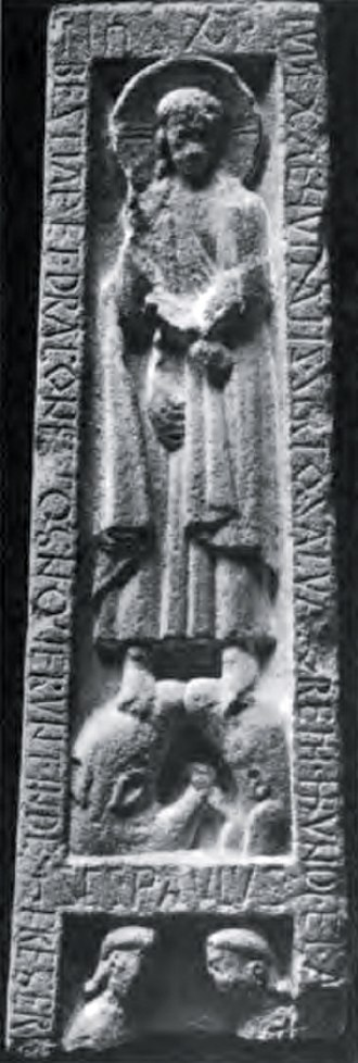 Scottish literature in the Middle Ages - The runic inscription on the Ruthwell Cross similar to the Anglo-Saxon poem the Dream of the Rood