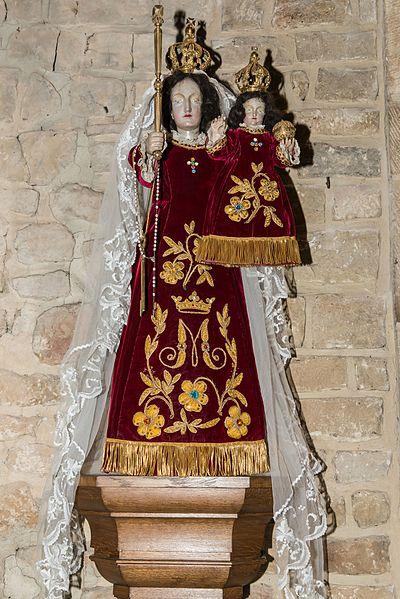 Consolatrix-Statu an der Kierch zu Sëll.