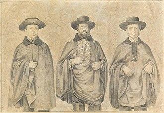 Siege of Uruguaiana - Image: S. Magestade o Sñr. Dom Pedro II, S. Alteza o Sñr. Conde d'Eu, e S. Alteza o Sñr. Duque de Saxe quando estiveram em Uruguayana, em 1865