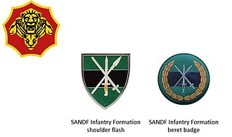 6 South African Infantry Battalion - SANDF era Infantry Formation insignia