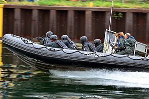 State police - SEK members of the State Police of North Rhine-Westphalia, Germany during an exercise