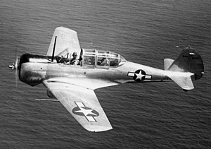 Curtiss-Wright CW-22 - A U.S. Navy SNC-1 in September 1943