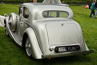 Jaguar Mark IV - SS Jaguar sports saloon 1937