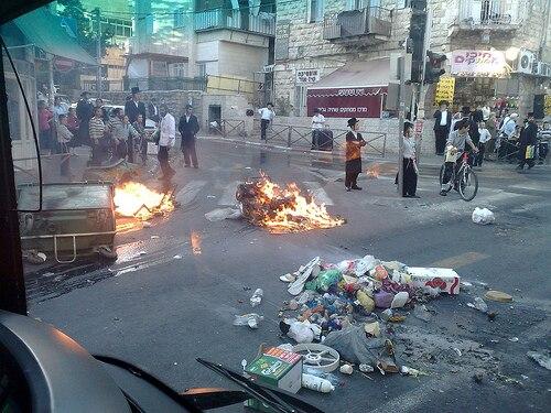 Sabath riots in Jerusalem2009
