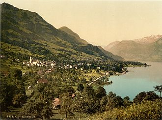 Sachseln - Sachseln and the Sarnersee in 1900