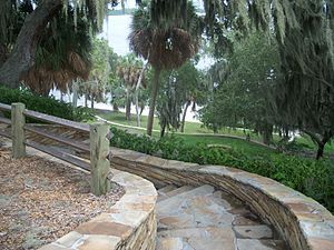 Pinellas County, Florida - View from the top of the Tocobaga mound at Philippe Park