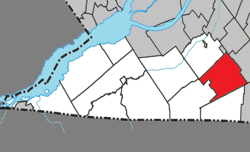 Location within Le Haut-Saint-Laurent RCM.