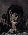Saint John the Evangelist. Line engraving by M. Pitteri afte Wellcome V0032390.jpg
