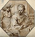 Saint Luke. Watercolour drawing. Wellcome V0032558.jpg
