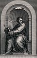 Saint Mark. Line engraving by P.G. Langlois after G.B. Wicar Wellcome V0032602.jpg