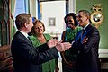 Saint Patrick's Day 2011 in the White House Green Room.jpg