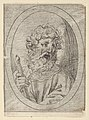 Saint Paul holding a sword, in an oval frame, from Christ, the Virgin, and Thirteen Apostles MET DP837889.jpg