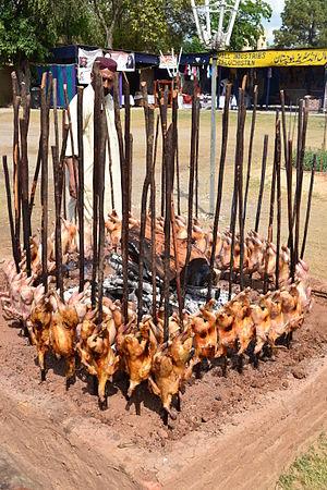 Sajji - Sajji being cooked in Balochistan, Pakistan