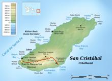 Map Of San Cristobal Island Galapagos
