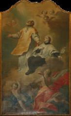Sanint Philip Neri and Saint  Aloysius Gonzaga in Glory