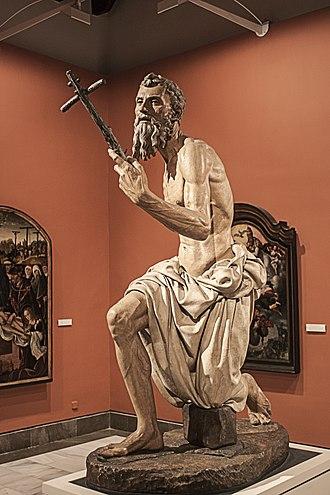 Pietro Torrigiano - Sculpture of Saint Jerome in Museum of Fine Arts of Seville