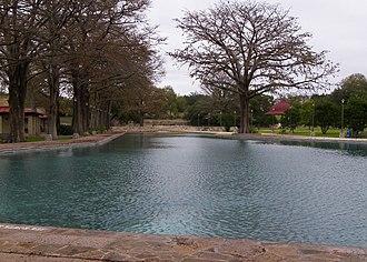 San Pedro Springs - San Pedro Park swimming pool or lake, in 2011.