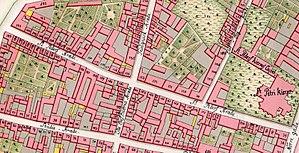 Sankt Peders Stræde - Sankt Peders Stræde as seen on Gedde's maps of Copenhagen from 1757