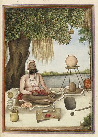 """Dashanami Sampradaya - Sannyasi, a Saiva mendicant - Tashrih al-aqvam'"""" (1825)"""
