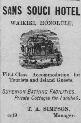 George Lycurgus - An 1893 advertisement that appeared in the Hawaii Holomua
