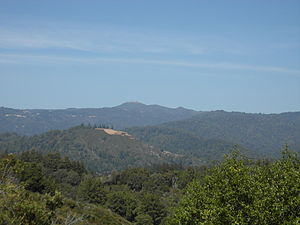 1989 Loma Prieta earthquake - Loma Prieta Peak in the Santa Cruz Mountains