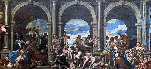 Santa Giustina (Padua) - Chapel of Saint Luke - Massacre of the Innocents by Sebastiano Galvano