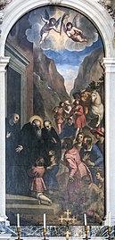 Santa Giustina (Padua) - St. Benedict welcomes his disciples, Maurus and Placidus by Palma Il Giovane