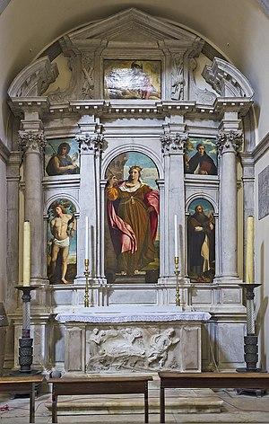 Santa Maria Formosa - Image: Santa Maria Formosa, cappella laterale, opere di Palma il Vecchio