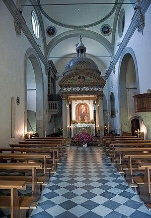 Santa Maria del Sasso - Interior with tempietto
