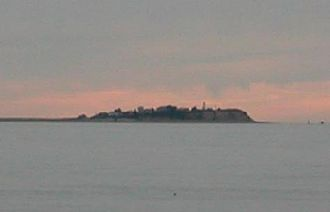 Neighborhoods in Plymouth, Massachusetts - Saquish Neck, as viewed from Plymouth Beach