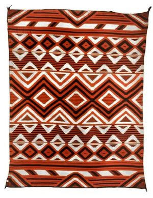 Serape - A Navajo serape from the mid 19th century.