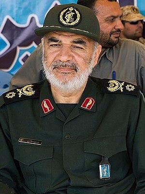 Hossein Salami - Image: Sardar Hossein Salami in Great Prophet Wargame in April 2016 by tasnimnews 01 by tasnimnews 09 (cropped)