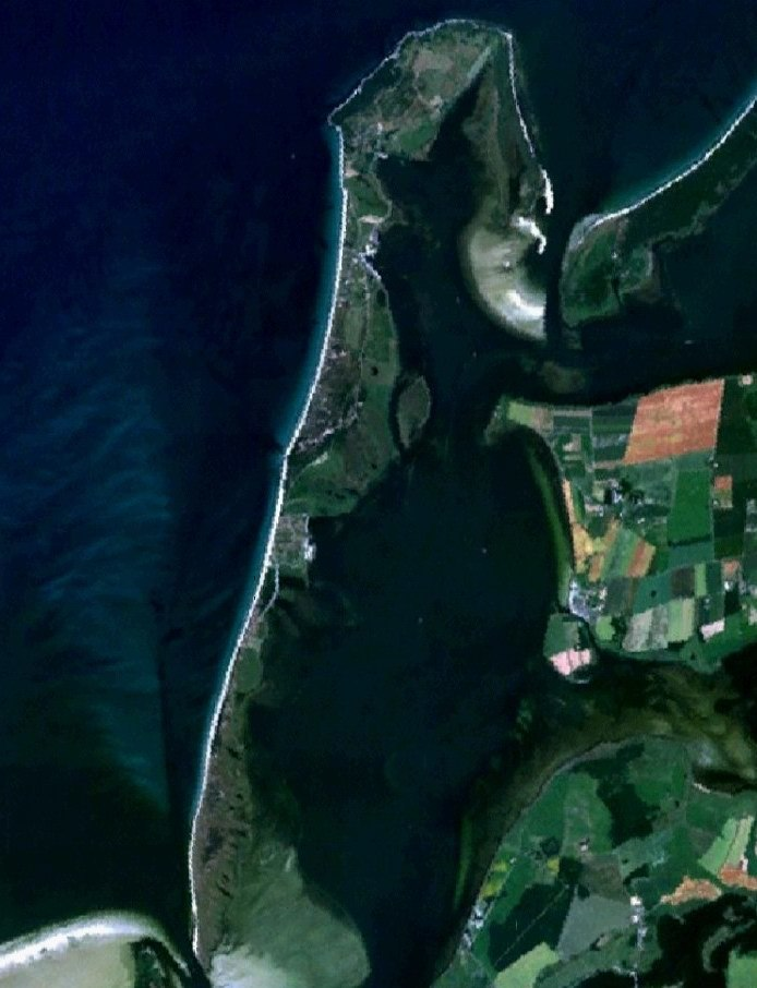 Satellite Image of Hiddensee