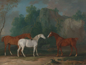 Sawrey Gilpin - Image: Sawrey Gilpin Three Hunters in a Rocky Landscape Google Art Project