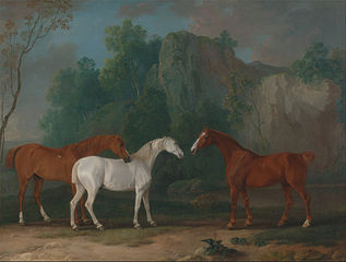 Three Hunters in a Rocky Landscape