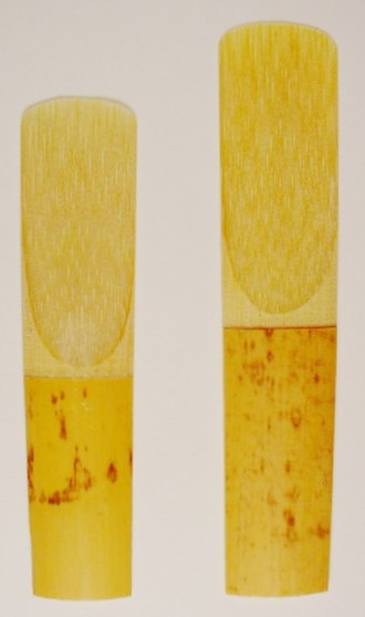Reed (mouthpiece) - Alto and tenor saxophone reeds.