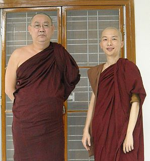 Burmese Buddhhist monk