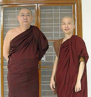Sayadaw U Tejaniya and Bhikku Kumara CROPPED.jpg
