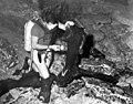 Scuba diver examining mastodon bones at Wakulla Springs (3330211065).jpg