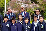 Secretary Kerry and His G7 Counterparts Stand With School Children After Laying Wreaths at the Hiroshima Peace Memorial (25760752813).jpg