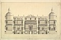 Section of the West Front, Houghton Hall, Norfolk MET DP829082.jpg