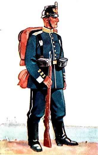 Seebataillon - Naval infantryman in full marching order, 1910