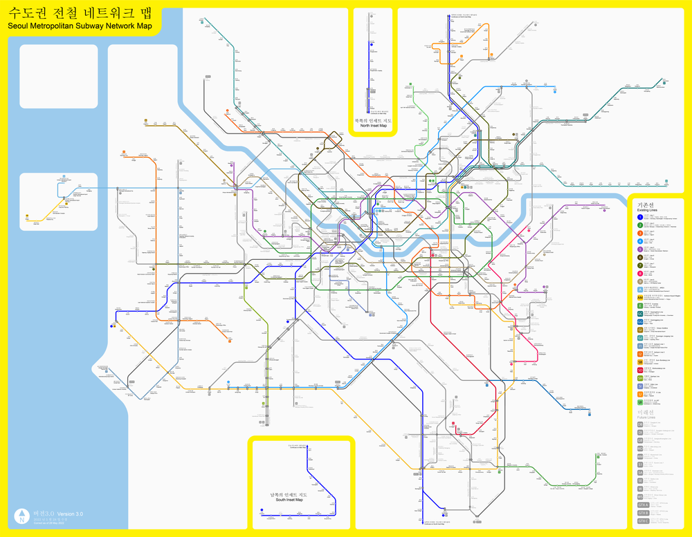 Eoul Subway Map.Seoul Metropolitan Subway Wikipedia
