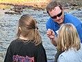 Service biologist Bryan Tompkins describing an aquatic insect (5029716230).jpg