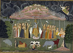 Govardhan - Krishna lifting the Govardhan Hill