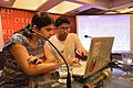 Shatarupa Brahma with Sukanta Pal - Editing Session - Wikilearnopedia - Oxford Bookstore - Kolkata 2015-08-23 3591.JPG