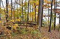 Shelter 1 trail and bridge near water Staunton River State Park (15283652994).jpg
