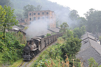 2 ft 6 in gauge railways - The Chinese Shibanxi Railway.